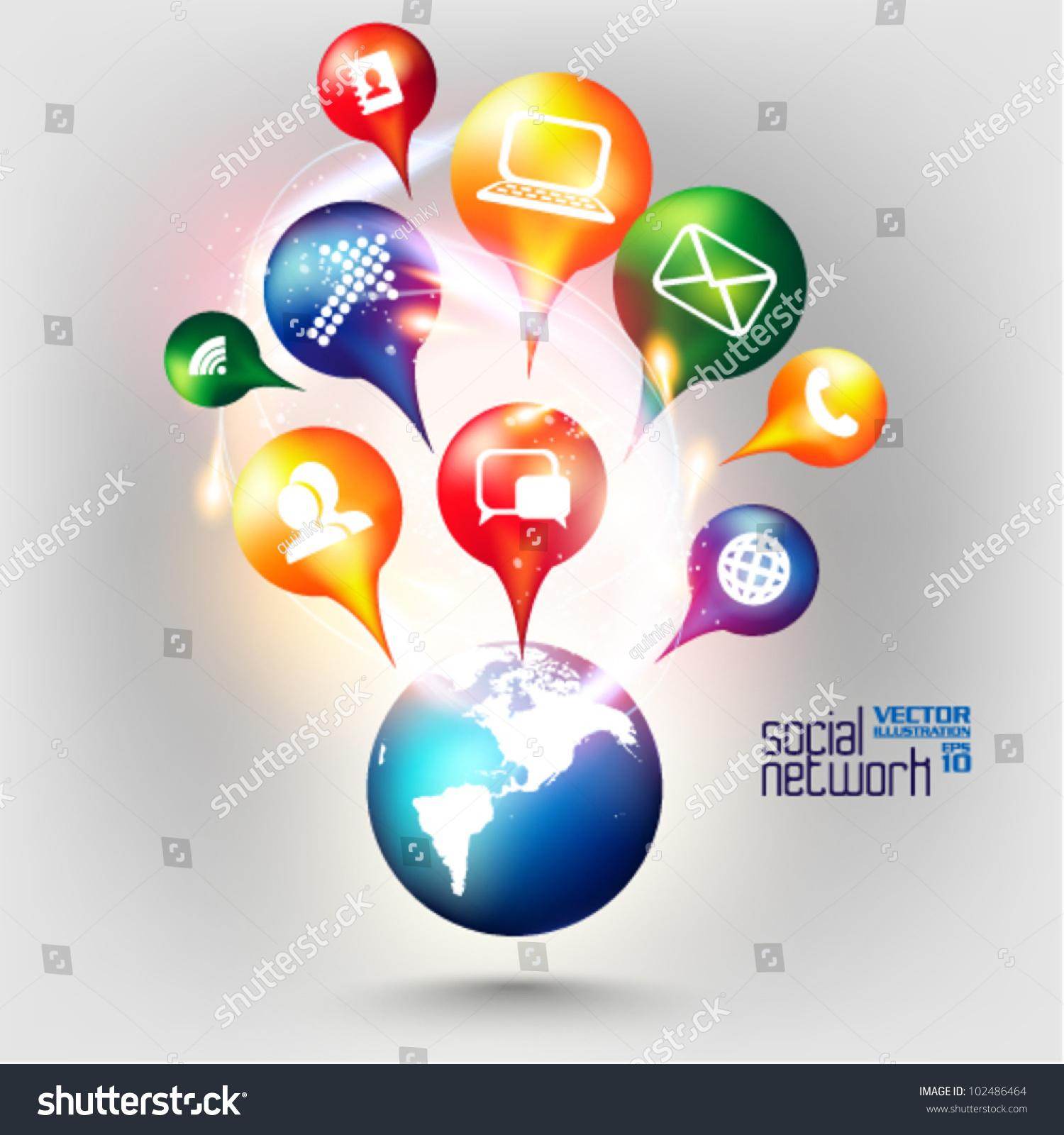 Modern Conceptual Digital Application Social Network