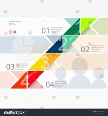Modern Design Minimal Style Infographic Template Stock