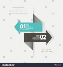 Modern Design Template Arrow Used Infographics Stock