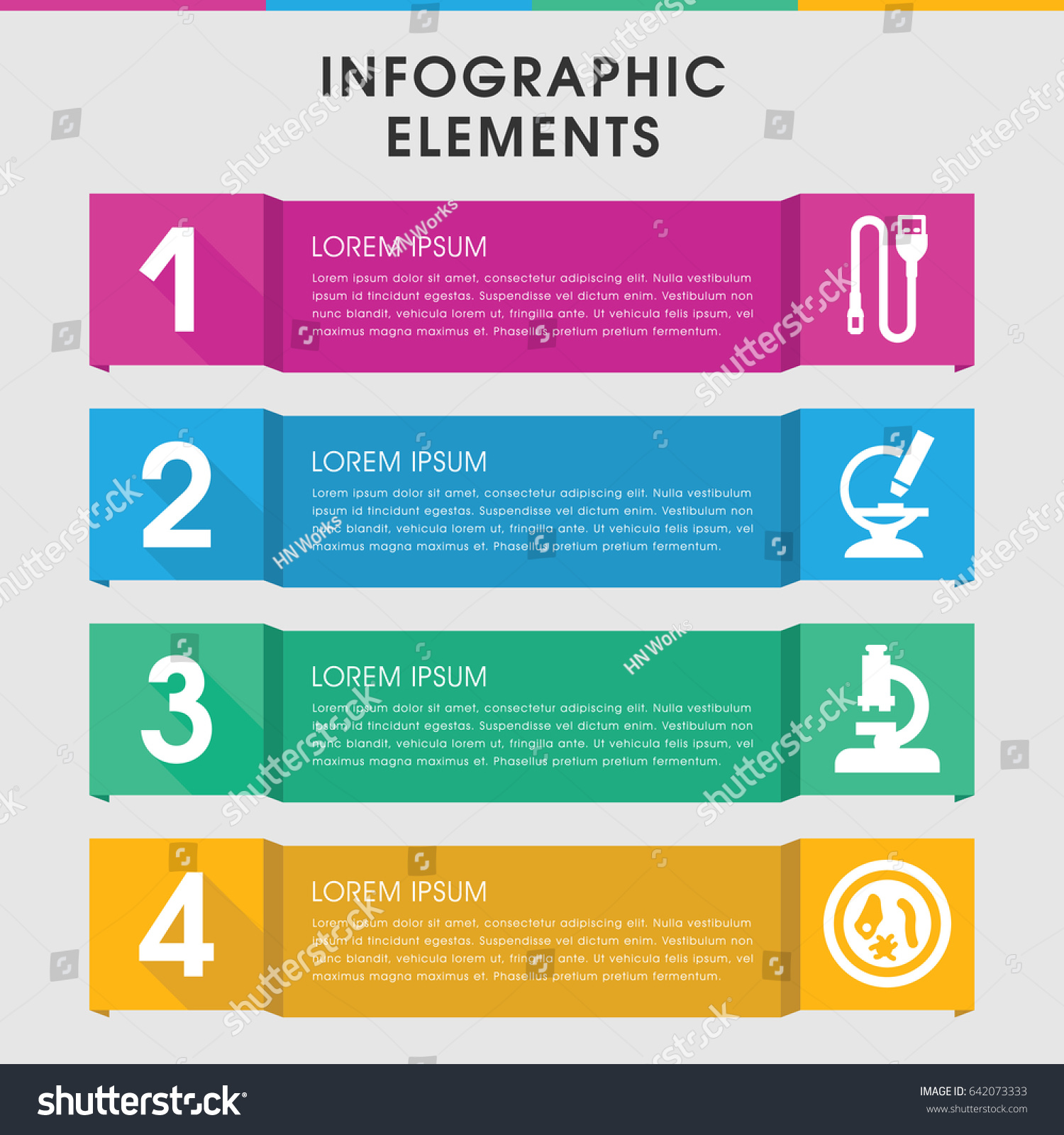 hight resolution of modern micro infographic template infographic design stock vector modern icons wiring diagram