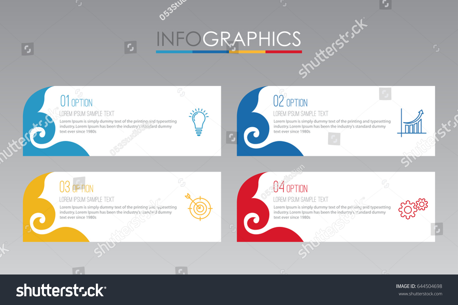Modern Thai Traditional Infographic Template Business Stock Vector ...