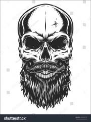 monochrome illustration hipster