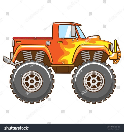 small resolution of monster truck clipart