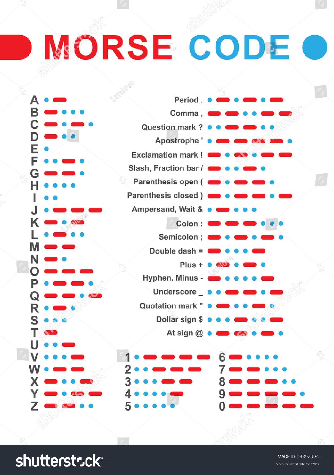 Morse Code Vector Illustration