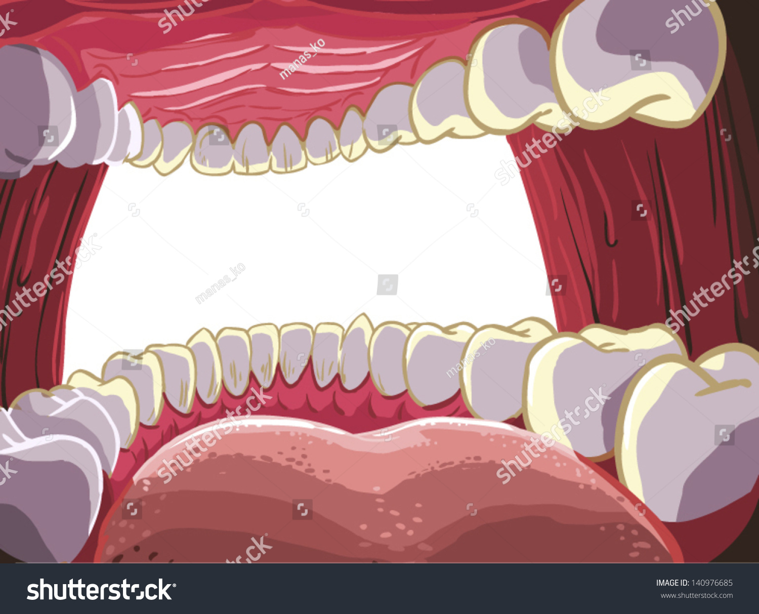 health tongue diagram 1990 crx stereo wiring mouth teeth inside stock vector 140976685 - shutterstock