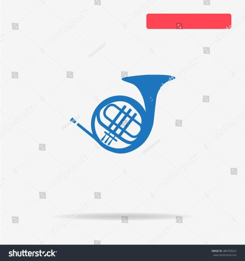 small resolution of music horn icon vector concept illustration for design