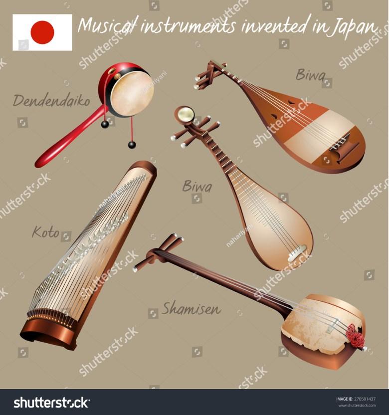 musical background series set musical instruments stock-vektorgrafik