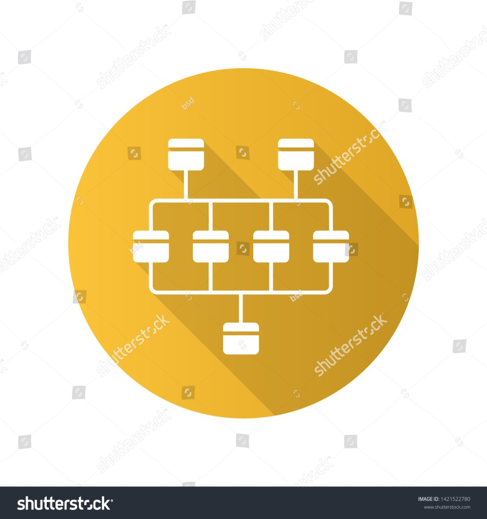 medium resolution of network diagram flat design long shadow glyph icon cluster diagram vertices and edges of