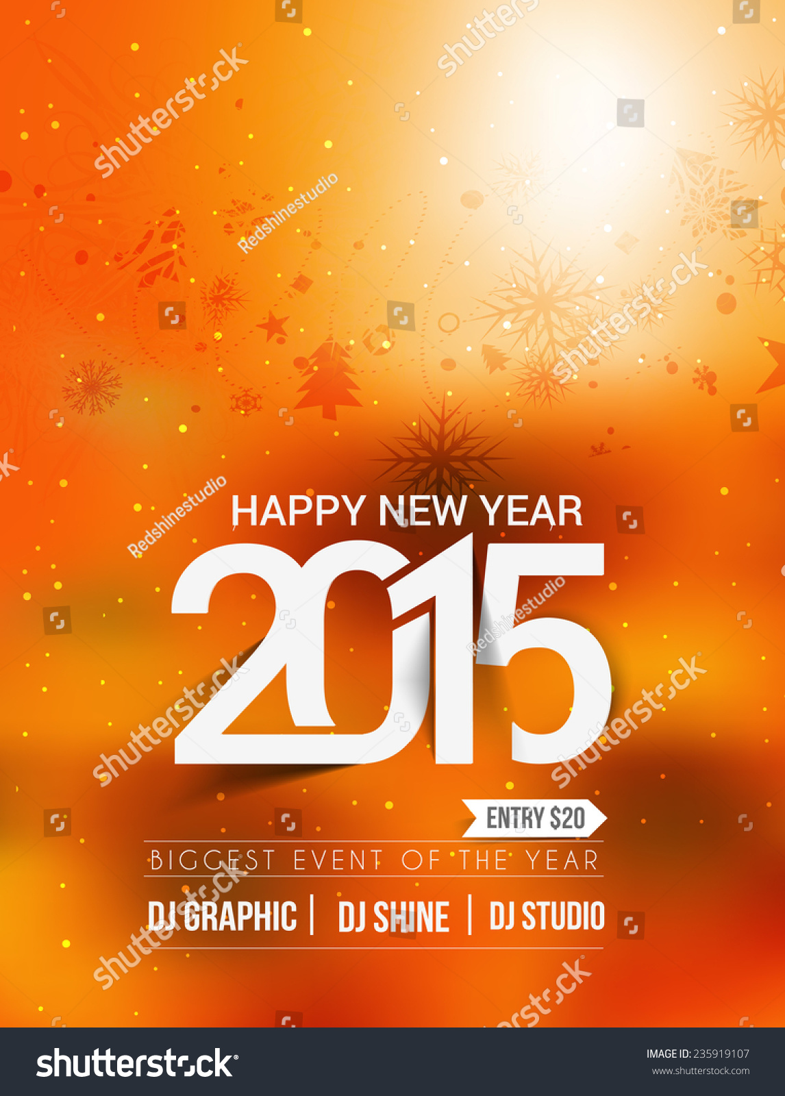 New Year Party Flyer Template #graphicriver New Years …