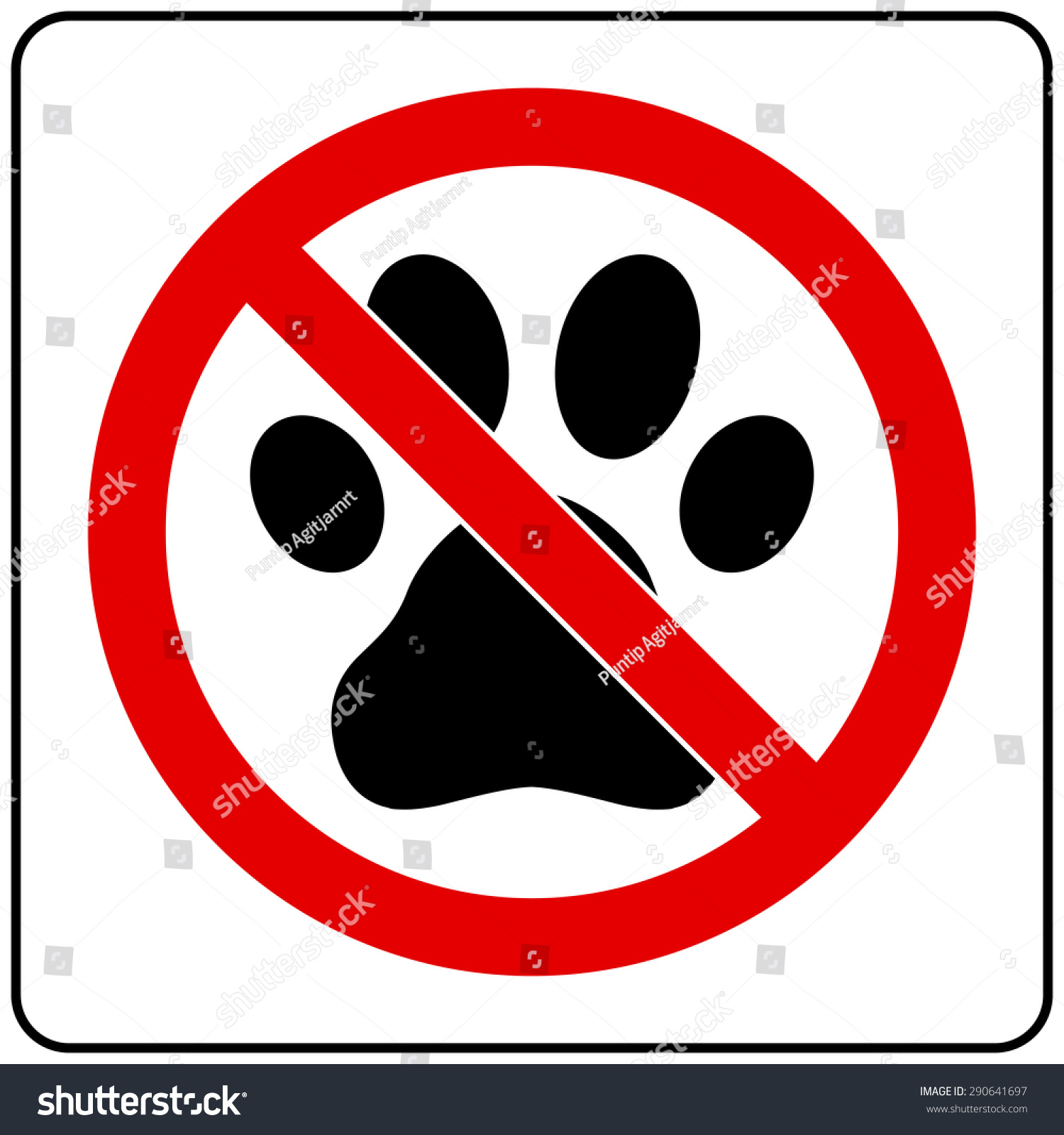 No Pets Allowed Sign Stock Vector