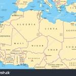 Vector De Stock Libre De Regalias Sobre North Africa Countries Political Map Capitals661063558