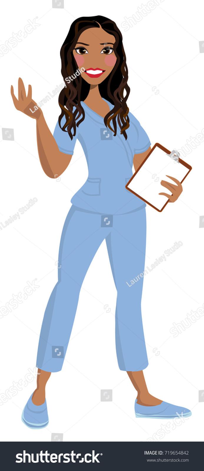 hight resolution of nurse avatar vector clip art logo icon