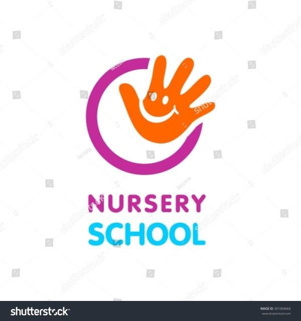 Nursery School Logo Stock Vector 391069660 Shutterstock