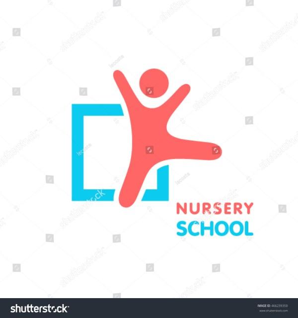Nursery School Logo Stock Vector 466239350 - Shutterstock