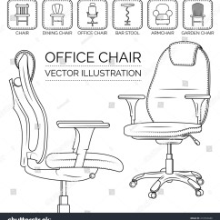 Ergonomic Chair Types Hanging Outdoor Chairs Uk Office Different Icon Stock Vector