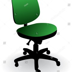Office Chair Illustration Lightest Fishing Reviews Isolated On White Stock Vector