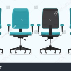 Office Chair Illustration Dxr Racing Gaming Desk Various Points Stock Vector Royalty Free Or In Of View Armchair Stool Front