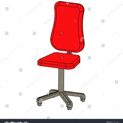 Office Chair Illustration For Autistic Child Vector Sign Stock