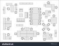 Office Furniture Top View Stock Vector 437567158 ...
