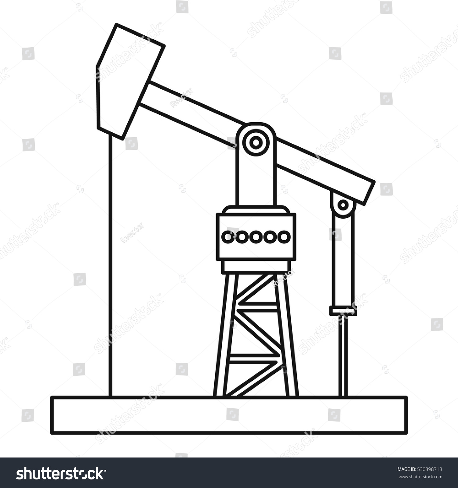 z rig diagram craftsman lt1000 lawn tractor wiring oil pumpjack icon outline illustration stock vector