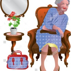 Old Lady Chair Marie Bean Bag Sitting 2 Stock Vector 90694117 Shutterstock