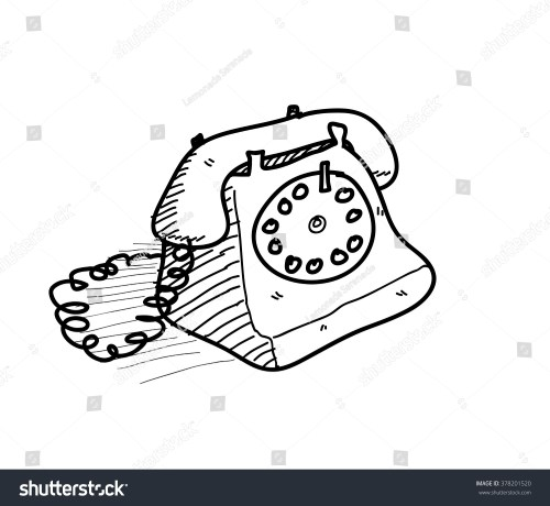 small resolution of old telephone doodle a hand drawn vector doodle illustration of an old fashioned home telephone