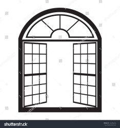 window outline vector open clipart arched windows arch shutterstock opening vectors royalty shutters clipground illustrations exterior