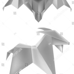 Simple Bat Diagram S13 Sr20det Blacktop Wiring Origami Goat Stock Vector 113776921 Shutterstock