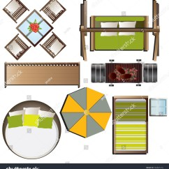 Chair Design Top View Cotton Banquet Covers Outdoor Furniture Set 16 Stock Vector 336881216