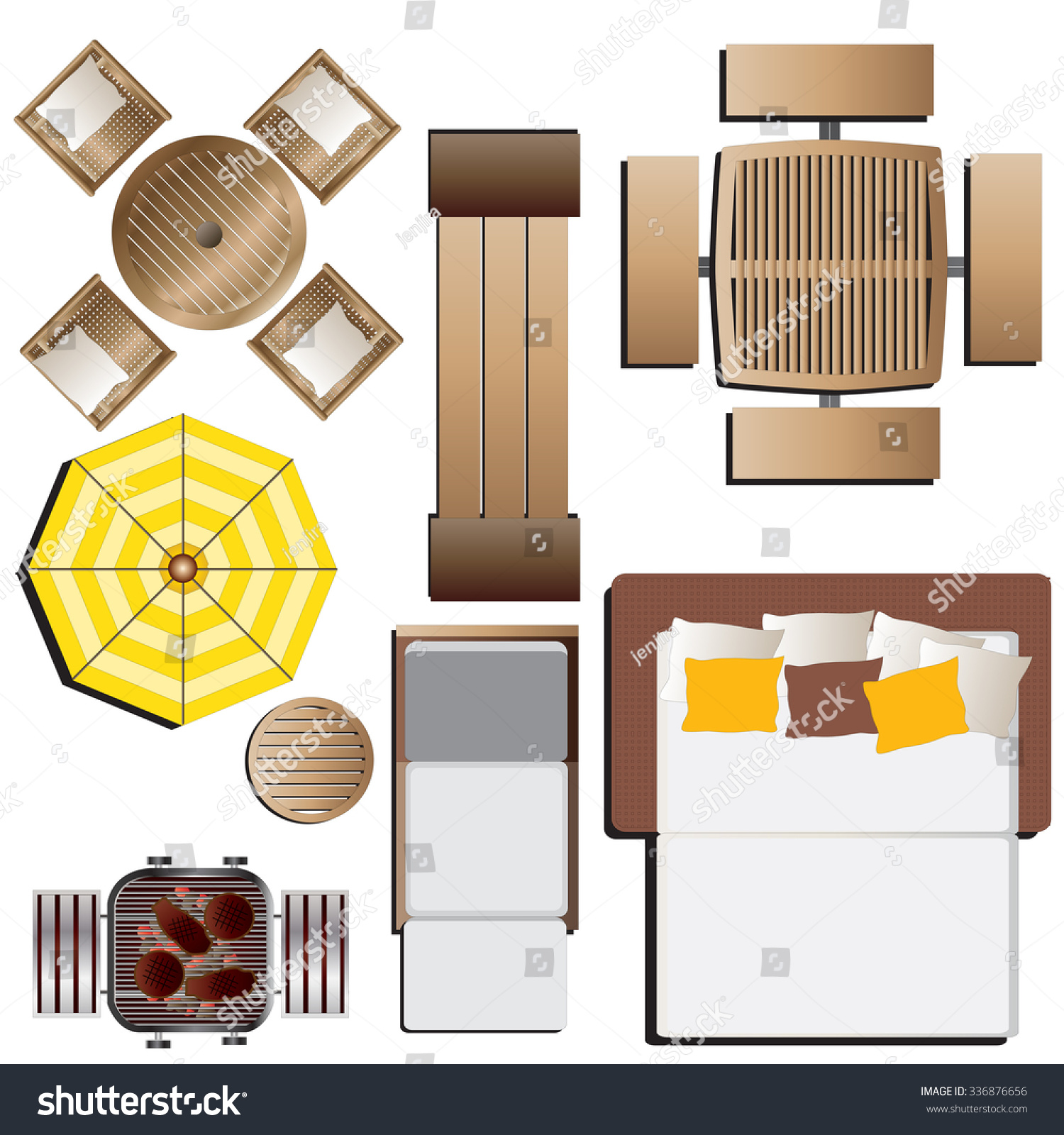 chair design top view target stretchy covers outdoor furniture set 15 stock vector 336876656