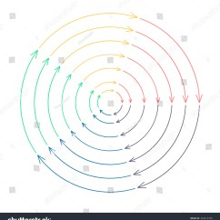 Free Circular Arrow Diagram Template Uml Layer Outline Infographic Arrows Different Radius Stock