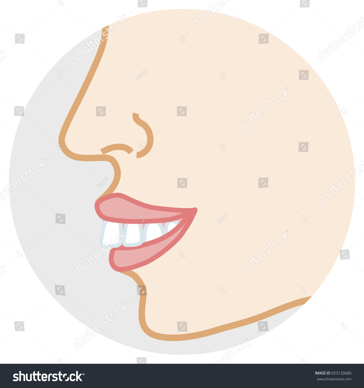 hight resolution of overbite teeth face close up side view