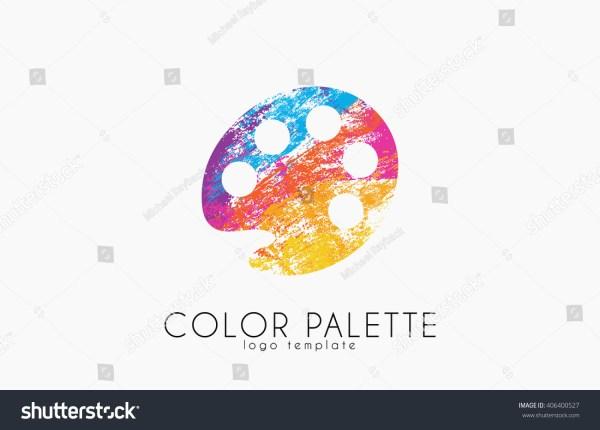 Palette Icon Color Symbol Art Stock Vector