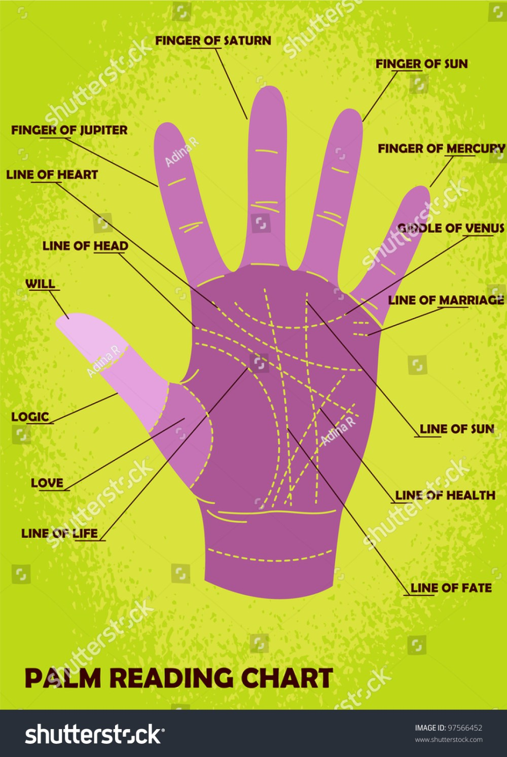 medium resolution of palm reading chart showing explanations