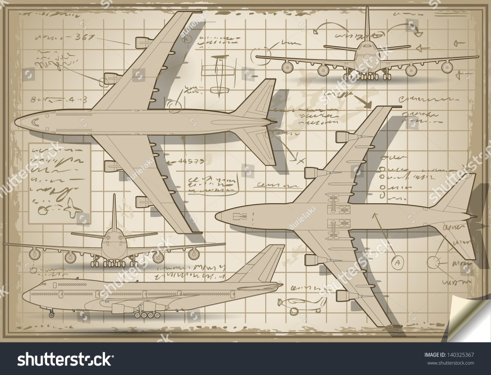 medium resolution of passenger jet airplane project diagram engine orthographic views isometric aviation airplane passenger 3d isolated illustration