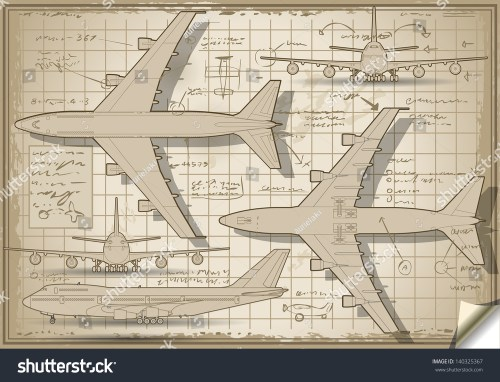 small resolution of passenger jet airplane project diagram engine orthographic views isometric aviation airplane passenger 3d isolated illustration