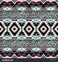 Pastel Color Tribal Navajo Seamless Pattern Stock Vector ...