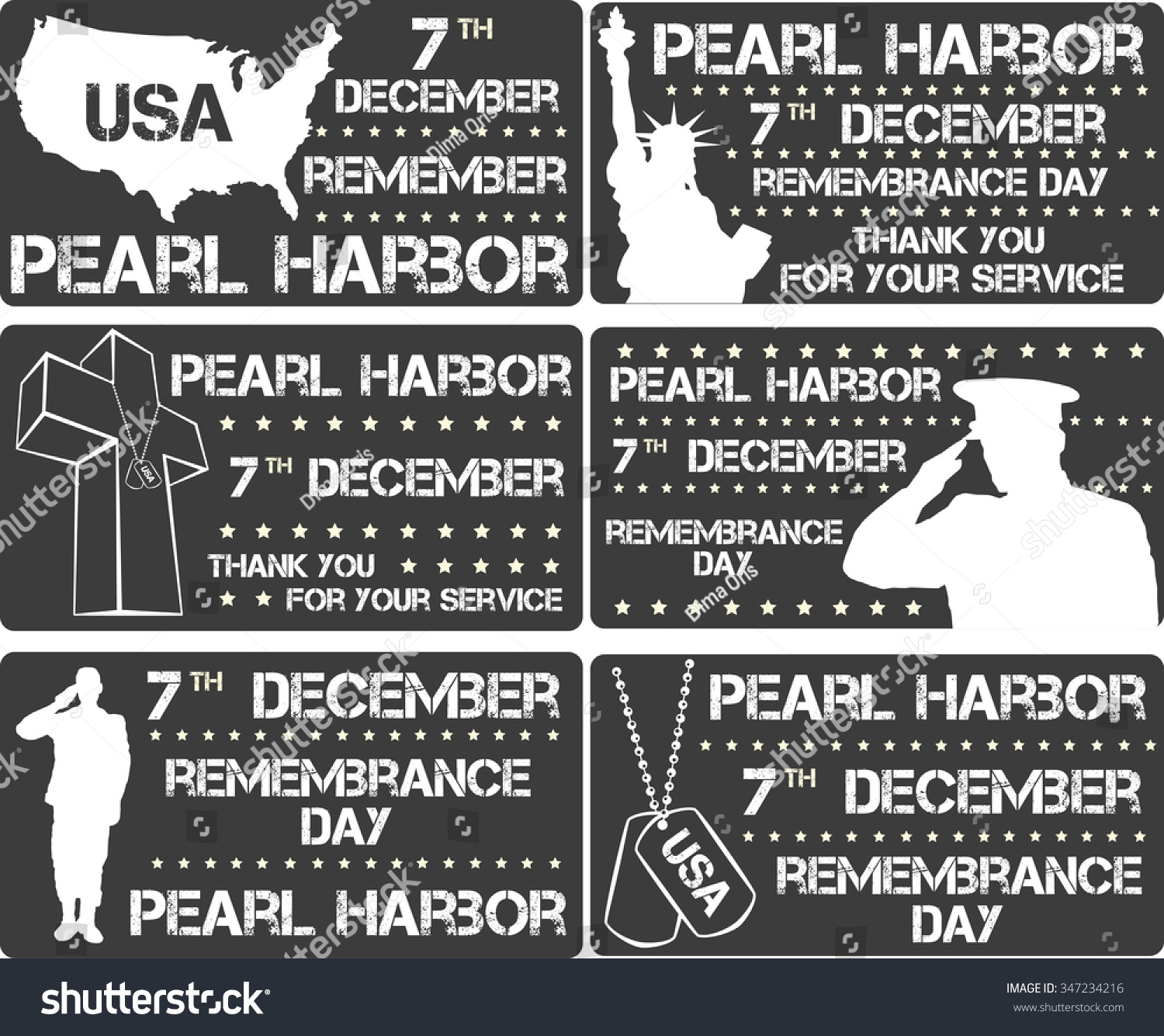 Pearl Harbor Remembrance Day Vector Illustration Stock
