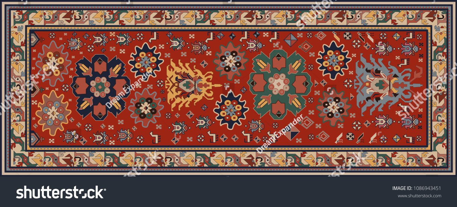 Persian Carpet Tribal Vector Texture Easy The Arts