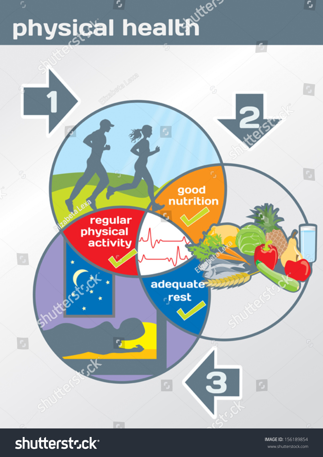 Physical Health Diagram Physical Activity Good Nutrition