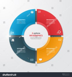 pie chart circle infographic template with 4 options business concept vector illustration  [ 1500 x 1600 Pixel ]