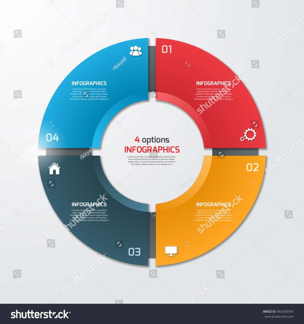 medium resolution of pie chart circle infographic template with 4 options business concept vector illustration