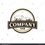 Pig Farm Vintage Logo Design Vector Stock Vector Royalty