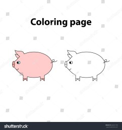 pig painting page game for children worksheet for kids [ 1500 x 1600 Pixel ]