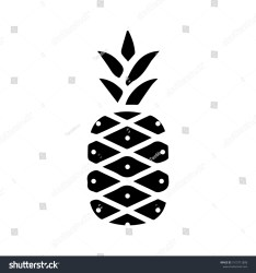 Pineapple Icon Vector Design Template Stock Vector Royalty Free 1515712808