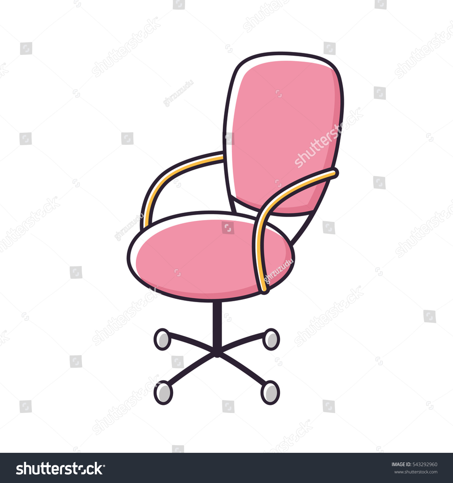 Pink Office Chairs Pink Office Chair Icon Isolated Stock Vector Royalty Free