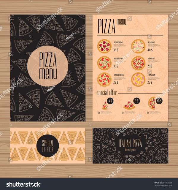 Pizza Menu Design A4 Size Flyer Stock Vector 387463399 - Shutterstock