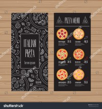 Pizza Menu Design Leaflet Flyer Layout Stock Vector ...