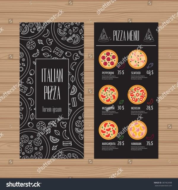 Pizza Menu Design Leaflet Flyer Layout Stock Vector 387463498 - Shutterstock