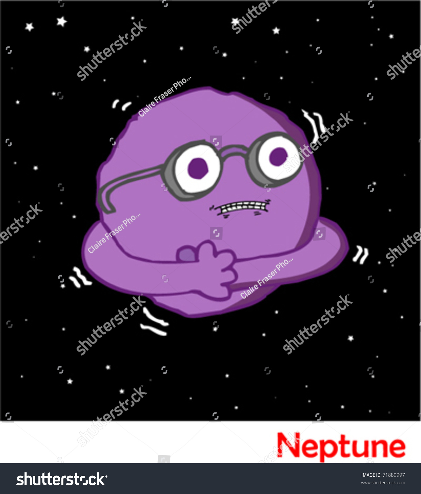Planets In The Solar System Neptune Stock Vector